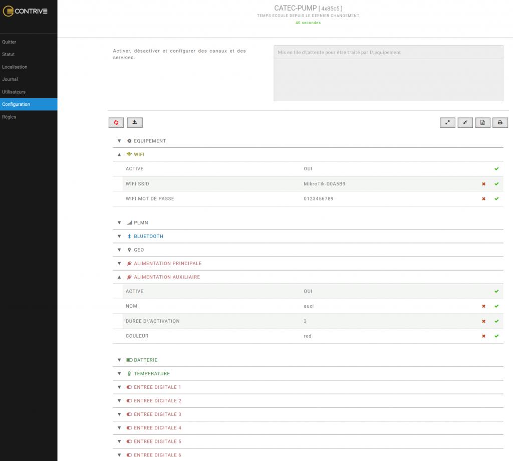 accès web configuration AVIOR
